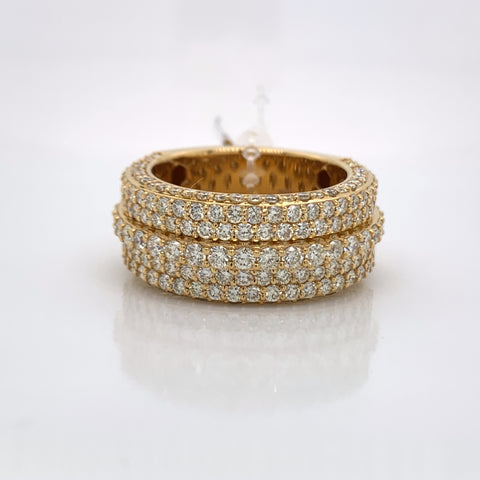 4.22CT Diamond 10K Yellow Gold Ring