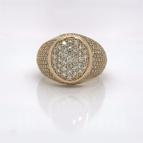 3.50CT Diamond 14K Yellow Gold Ring