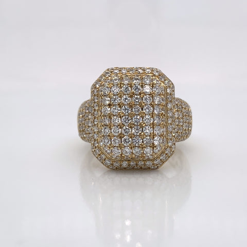 3.19CT Diamond 10K Yellow Gold Ring