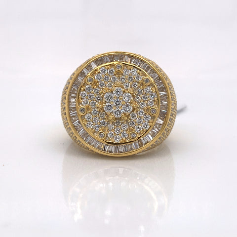 3.97CT Diamond 10K Yellow Gold Ring