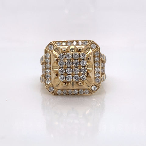 2.40CT Diamond 10K Yellow Gold Ring