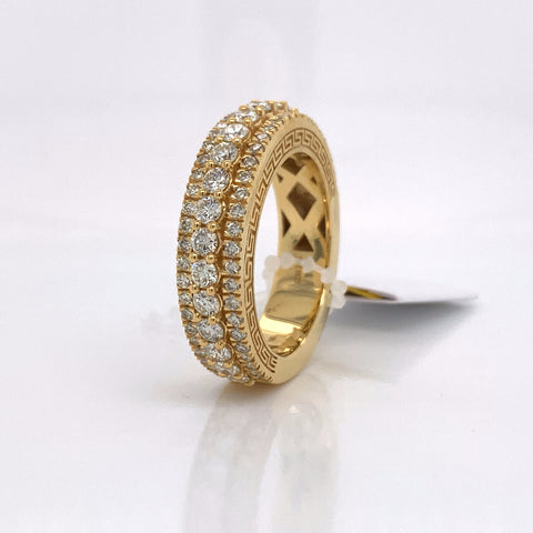 2.23CT Diamond 10K Yellow Gold Ring