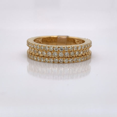 1.72CT Diamond 10K Yellow Gold Ring