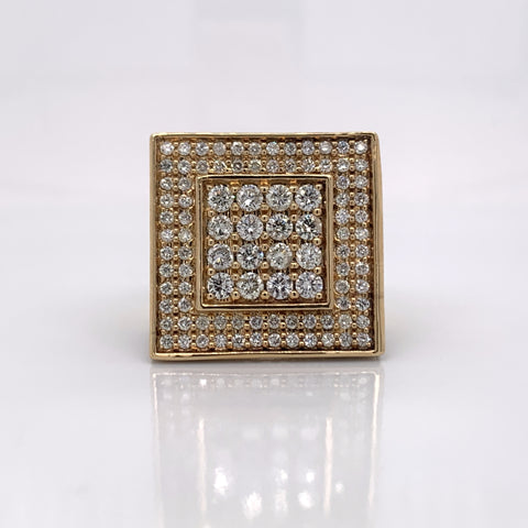 5.00CT Diamond 10K Yellow Gold Ring