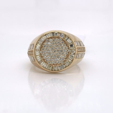 2.60CT Diamond 14K Yellow Gold Ring