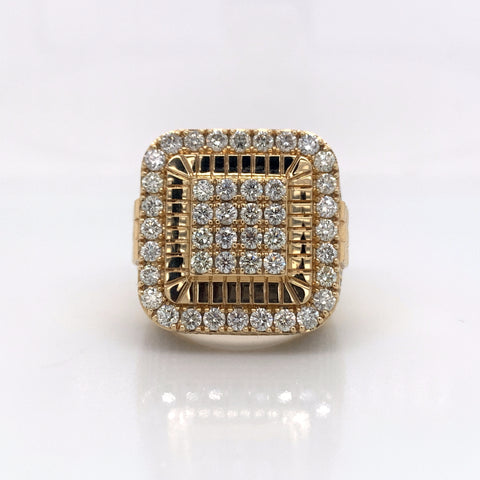 4.50CT Diamond 14K Yellow Gold Ring