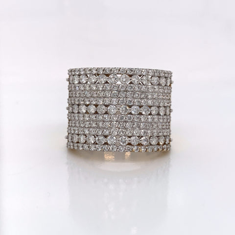 2.75CT Diamond 10K Yellow Gold Ring