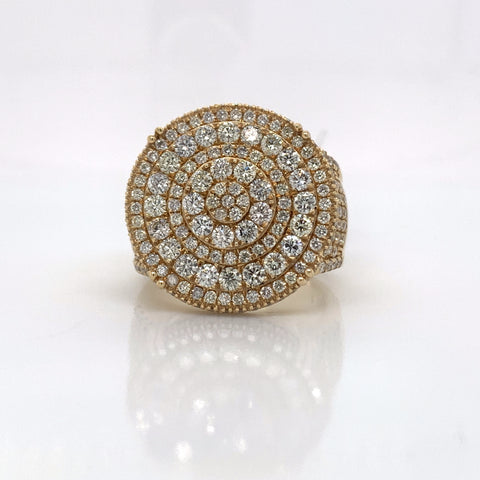 3.20CT Diamond 14K Yellow Gold Ring