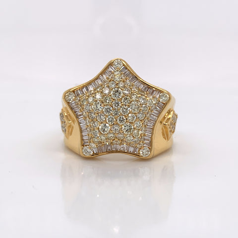 2.33CT Diamond 10K Yellow Gold Ring