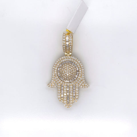 2.59CT Diamond 10K Yellow Gold Pendant