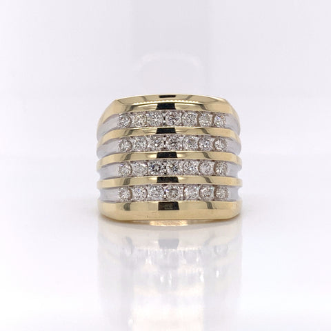 1.50CT Diamond 10K Yellow Gold Ring