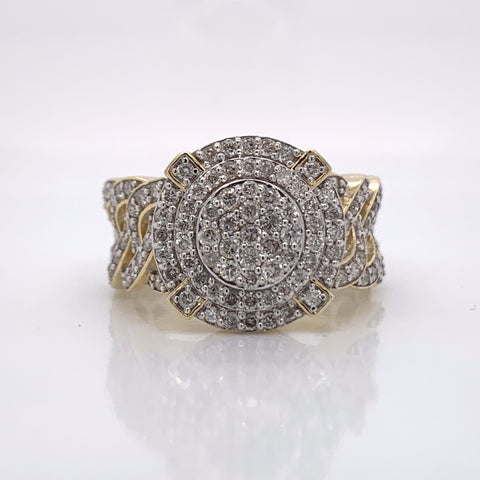 1.63CT Diamond 10K Yellow Gold Ring