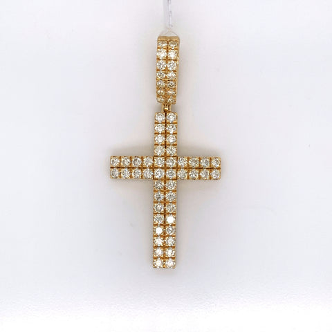 3.01CT Diamond 10K Yellow Gold Pendant