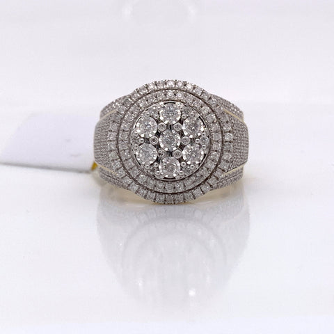 1.20CT Diamond 10K Yellow Gold Ring