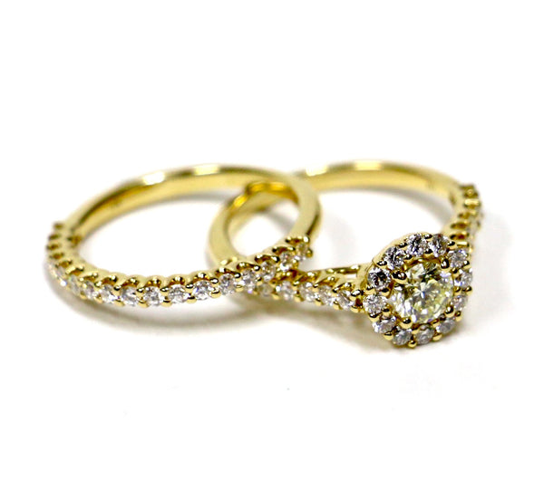 1.40 CT. Diamond Engagement Ring Set in 14K Yellow Gold