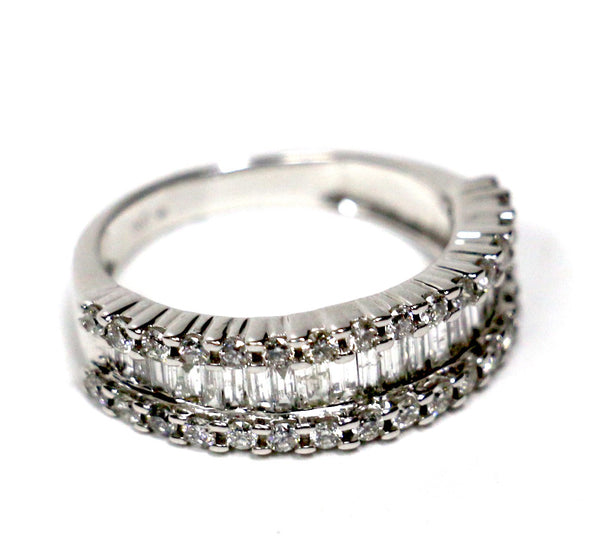 1.25 CT. Baguette Diamond Wedding Band in 14K White Gold