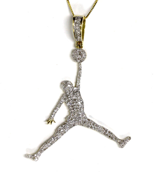 1.0 CT. Air Jordan Diamond Pendant in 10K Yellow Gold