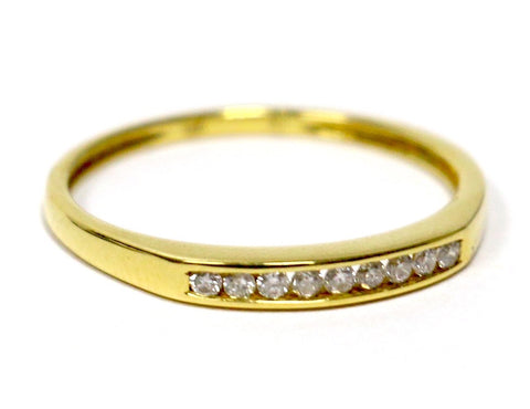 0.09 CT. Nine Stone Diamond Wedding Band in 18K Yellow Gold