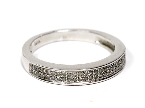 0.25 CT. Diamond Wedding Band in 10K White Gold