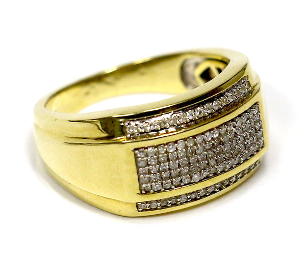 0.50 CT. Pave Diamond Wedding Band in 10K Yellow Gold