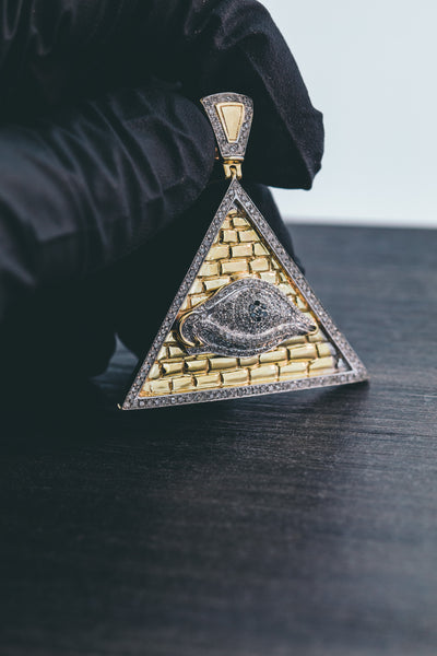 1.17 CT. PYRAMID Diamond Pendant in 10K Yellow Gold