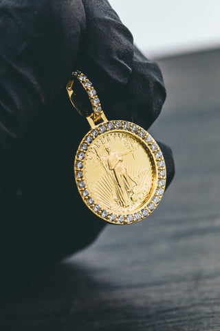 0.70 CT. Liberty Diamond Pendant in 10K Yellow Gold
