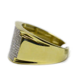 0.45 CT. Large Face Diamond Ring in 10K Yellow Gold