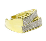 0.44 CT. Two-Way Diamond Ring in 10K Yellow Gold