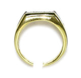 0.30 CT. Angled Face Diamond Ring in 10K Yellow Gold
