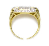 0.40 CT. Bridged Rectangle Diamond Ring in 10K Yellow Gold
