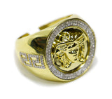0.40 CT. Medusa Diamond Ring in 10K Yellow Gold
