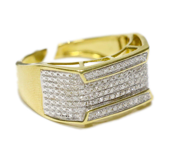 0.50 CT. Top and Bottom Diamond Ring in 10K Yellow Gold