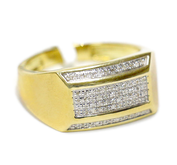 0.55 CT. Top and Bottom Diamond Ring in 10K Yellow Gold