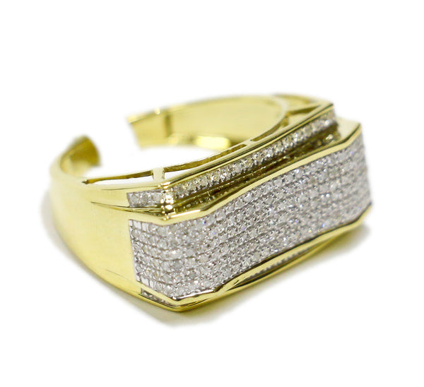 0.42 CT. Raised Concave Diamond Ring in 10K Yellow Gold