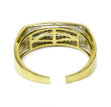 0.11 CT. Slender Frame Diamond Ring in 10K Yellow Gold