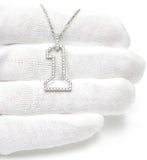 0.60 CT. #1 Diamond Pendant in 14K White Gold (Chain Included)