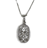 0.45 CT. Diamond Pendant in 14K White Gold (Chain Included)