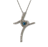 0.45 CT. Accented Heart Diamond Pendant in 14K White Gold (Chain Included)