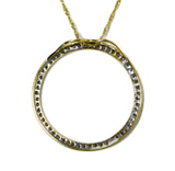 0.75 CT. Circle Diamond Pendant in 14K Gold (Chain Included)