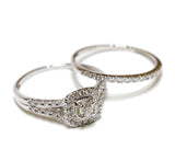 0.62 CT. Classic Diamond Engagement 2 Ring Set in 14K White Gold