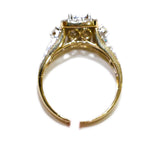 1.55 CT. 3x2 Princess Cut Diamond Engagement Ring with Side Accents in 14K Gold