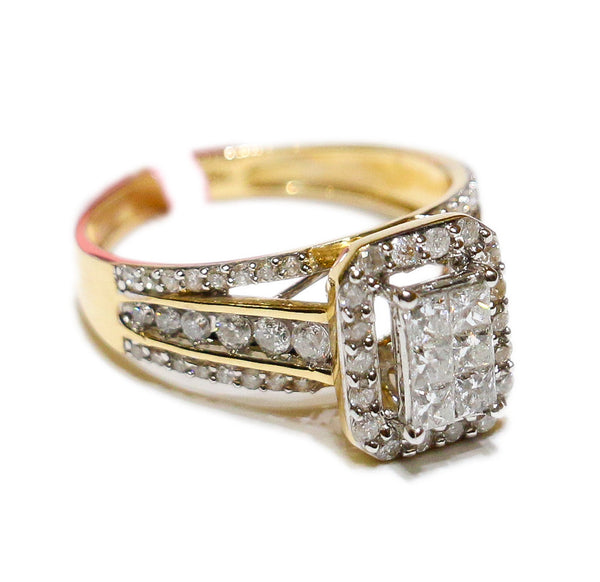 1.16 CT. 3x2 Princess Cut Diamond Engagement Ring in 14K Gold