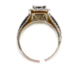 1.85 CT. 3x2 Princess Cut Diamond Engagement Ring in 14K White Gold