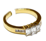 1.00 CT. Emerald Cut Three Stone Diamond Engagement Ring in 14K Gold