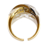 1.05 CT. Two-Tone Diamond Wedding Band in 14K Gold