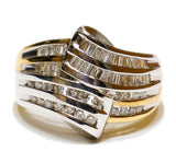 1.00 CT. Two-Tone Diamond Wedding Band in 14K Gold