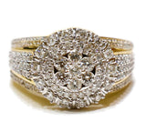 1.73 CT. Oversize Diamond Engagement Ring in 10K Gold