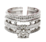 1.15 CT. Diamond Engagement Two Ring Set in 14K White Gold