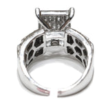1.30 CT. Flush Set Diamond Engagement Ring in 10K White Gold