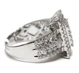 2.00 CT. Stepped Rectangle Diamond Engagement Ring in 14K White Gold